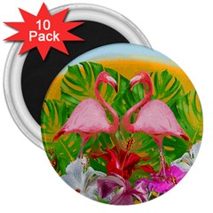 Flamingo 3  Magnets (10 pack)