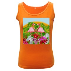 Flamingo Women s Dark Tank Top