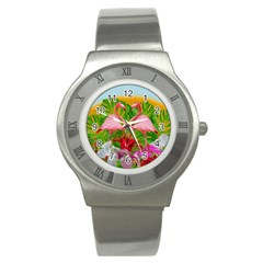 Flamingo Stainless Steel Watch