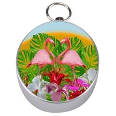 Flamingo Silver Compasses