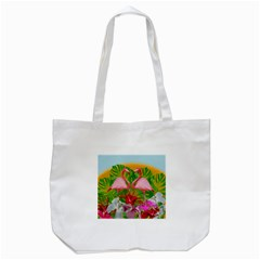 Flamingo Tote Bag (White)