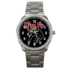 Kung Fu  Sport Metal Watch