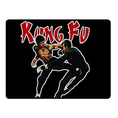 Kung Fu  Double Sided Fleece Blanket (Small)