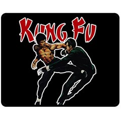 Kung Fu  Double Sided Fleece Blanket (Medium)