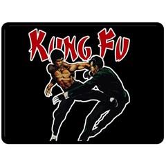 Kung Fu  Double Sided Fleece Blanket (Large)