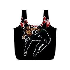 Kung Fu  Full Print Recycle Bags (S)