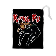 Kung Fu  Drawstring Pouches (Large)