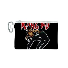 Kung Fu  Canvas Cosmetic Bag (S)