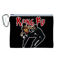 Kung Fu  Canvas Cosmetic Bag (L)