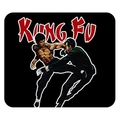 Kung Fu  Double Sided Flano Blanket (Small)