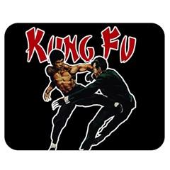 Kung Fu  Double Sided Flano Blanket (Medium)