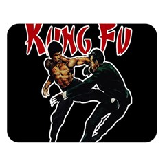 Kung Fu  Double Sided Flano Blanket (Large)