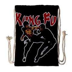 Kung Fu  Drawstring Bag (Large)