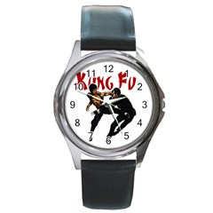 Kung Fu  Round Metal Watch