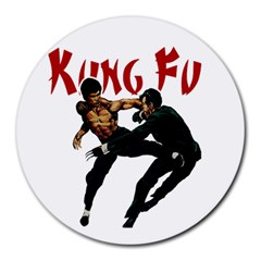Kung Fu  Round Mousepads