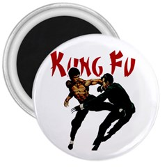Kung Fu  3  Magnets
