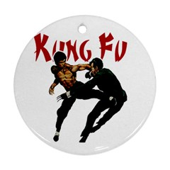 Kung Fu  Ornament (Round)