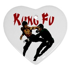 Kung Fu  Ornament (Heart)