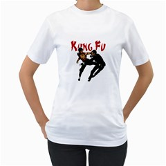 Kung Fu  Women s T-Shirt (White) (Two Sided)