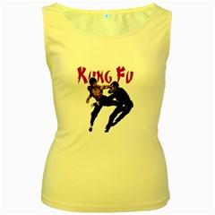 Kung Fu  Women s Yellow Tank Top