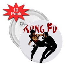 Kung Fu  2.25  Buttons (10 pack)