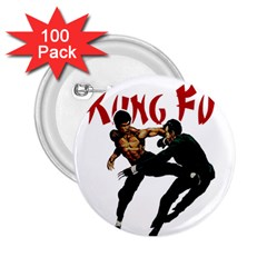 Kung Fu  2.25  Buttons (100 pack)
