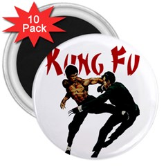 Kung Fu  3  Magnets (10 pack)