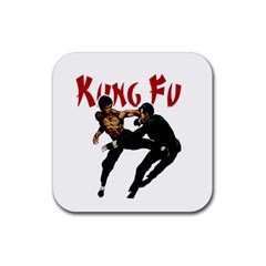 Kung Fu  Rubber Coaster (Square)