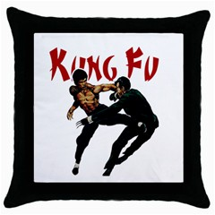 Kung Fu  Throw Pillow Case (Black)