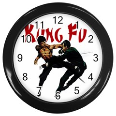 Kung Fu  Wall Clocks (Black)