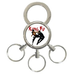 Kung Fu  3-Ring Key Chains
