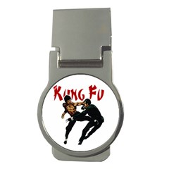 Kung Fu  Money Clips (Round)