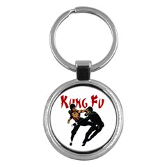 Kung Fu  Key Chains (Round)