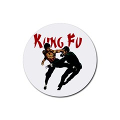 Kung Fu  Rubber Round Coaster (4 pack)