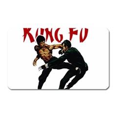 Kung Fu  Magnet (Rectangular)