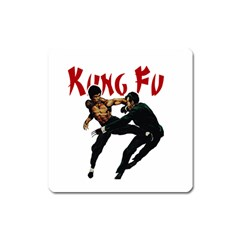 Kung Fu  Square Magnet