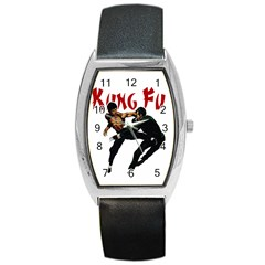 Kung Fu  Barrel Style Metal Watch