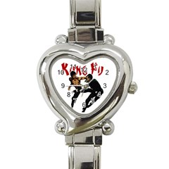 Kung Fu  Heart Italian Charm Watch