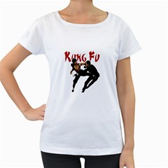 Kung Fu  Women s Loose-Fit T-Shirt (White)