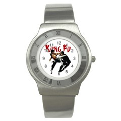 Kung Fu  Stainless Steel Watch