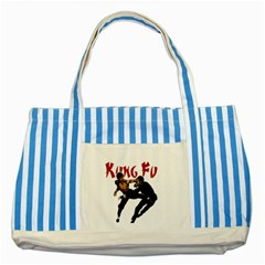 Kung Fu  Striped Blue Tote Bag
