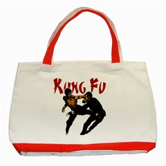 Kung Fu  Classic Tote Bag (Red)