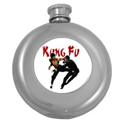 Kung Fu  Round Hip Flask (5 oz)