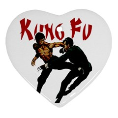 Kung Fu  Heart Ornament (Two Sides)