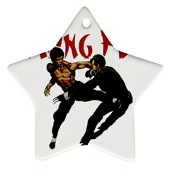 Kung Fu  Star Ornament (Two Sides)