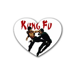 Kung Fu  Heart Coaster (4 pack)