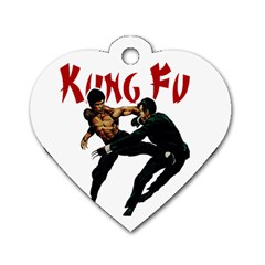 Kung Fu  Dog Tag Heart (One Side)