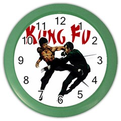 Kung Fu  Color Wall Clocks