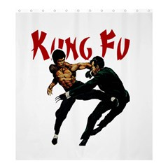 Kung Fu  Shower Curtain 66  x 72  (Large)