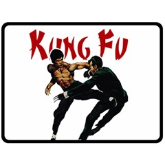 Kung Fu  Fleece Blanket (Large)